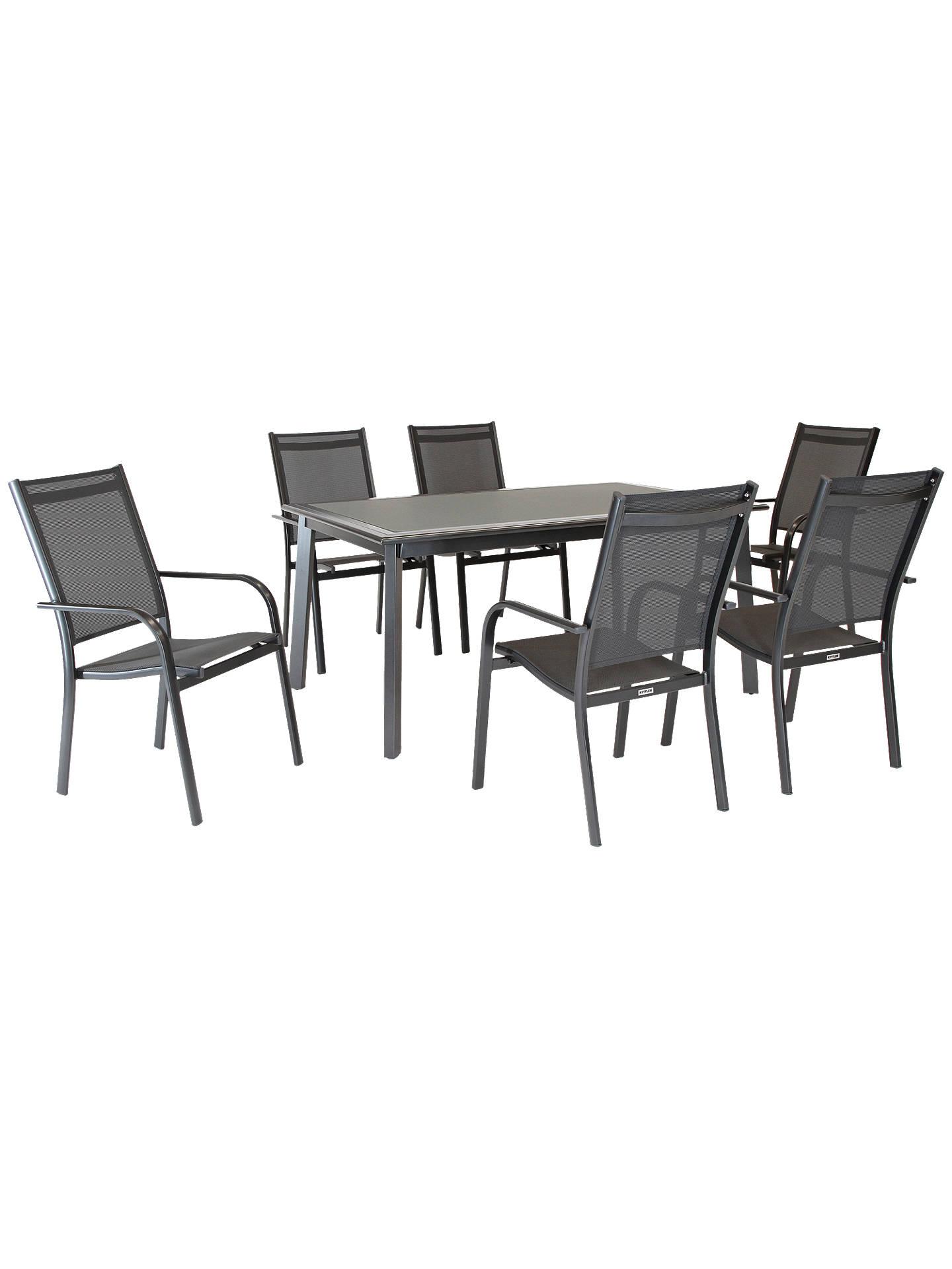 KETTLER Surf 6 Seater Garden Dining Table & Chairs Set at John Lewis ...