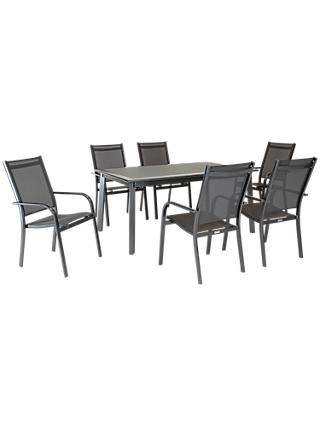 KETTLER Surf 6 Seater Garden Dining Table & Chairs Set