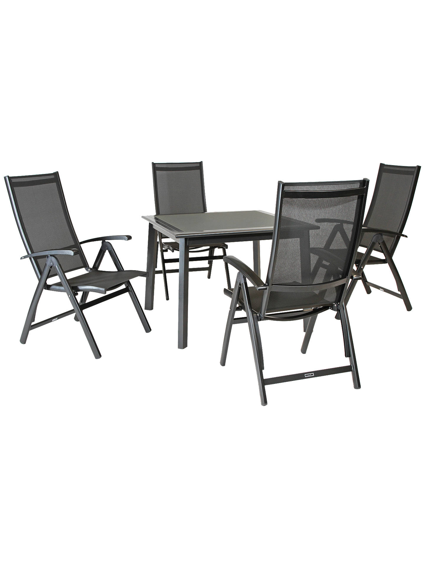 Astounding Kettler Surf 4 Seater Outdoor Multi Position Reclining Chairs And Dining Table Set Grey Creativecarmelina Interior Chair Design Creativecarmelinacom