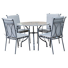 Buy LG Outdoor Constantine 4 Seater Dining Table and Chairs Set, Granite Online at johnlewis.com
