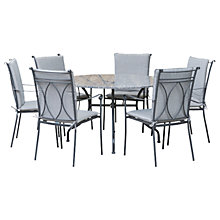 Buy LG Outdoor Constantine 6 Seater Dining Table and Chairs Set, Granite Online at johnlewis.com