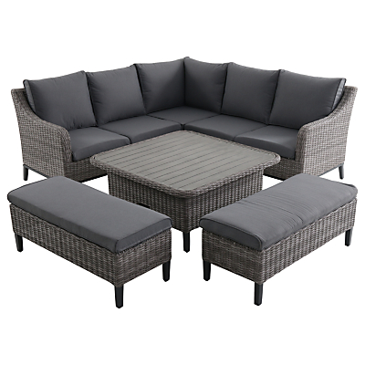 LG Outdoor Copenhagen Modular Table and Chairs Lounging Set