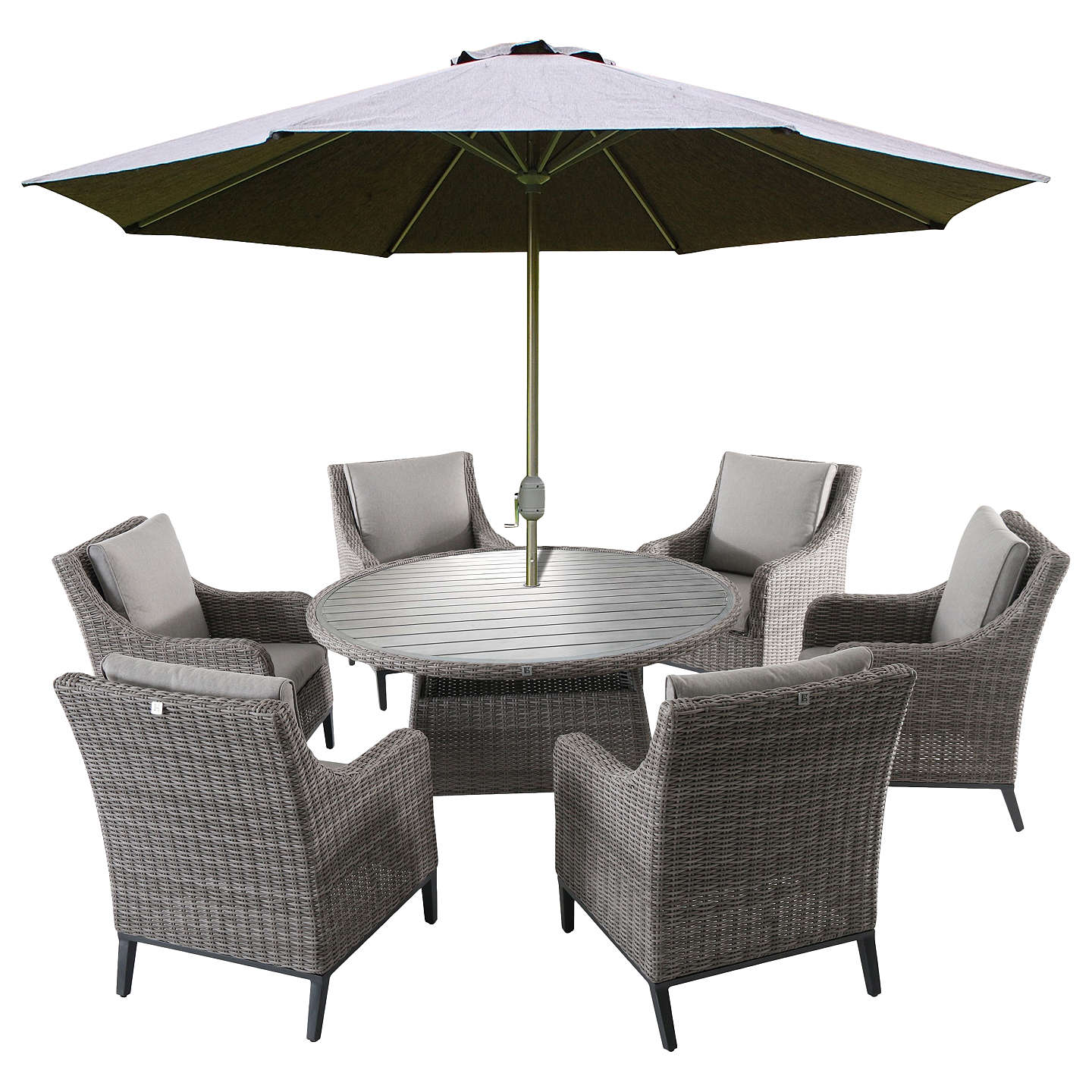 Lg Outdoor Copenhagen 6 Seater Garden Dining Table And Chairs Set With Parasol Online At Johnlewis
