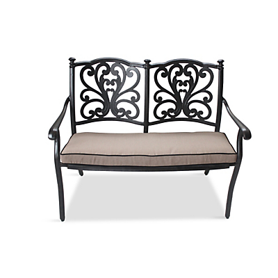 LG Outdoor Devon Bench and Cushion, Bronze