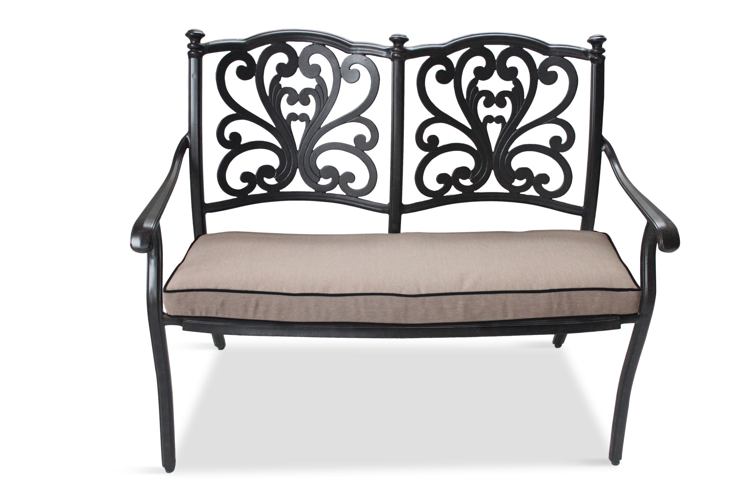 LG Outdoor LG Outdoor Devon Bench and Cushion, Bronze