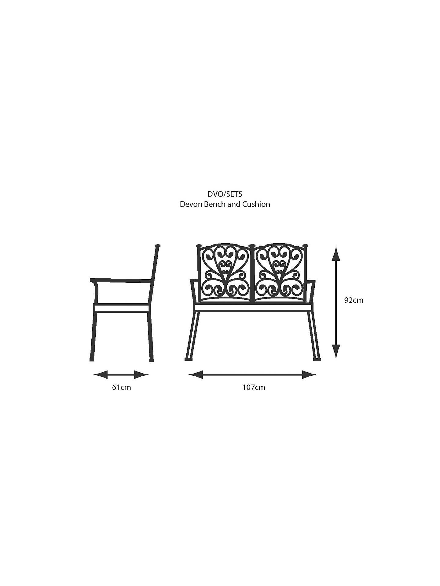 Remarkable Lg Outdoor Devon Bench And Cushion Bronze Creativecarmelina Interior Chair Design Creativecarmelinacom