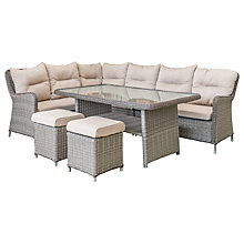 Buy LG Outdoor Marseille 8 Seater Modular Dining Table and Chairs Lounging Set, Natural Online at johnlewis.com