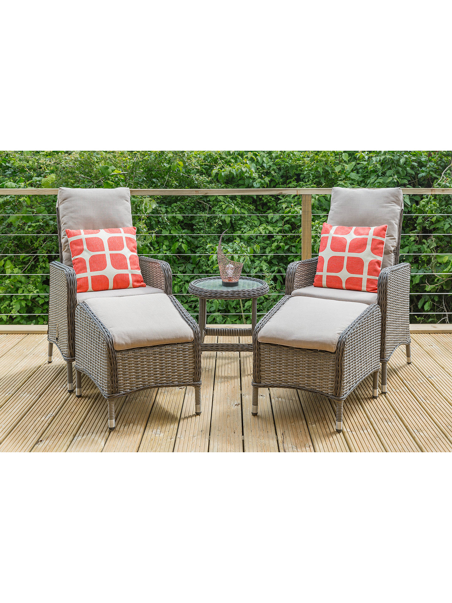 Fabulous Lg Outdoor Marseille 2 Seater Reclining Garden Chairs With Footstools And Side Table Set Natural Unemploymentrelief Wooden Chair Designs For Living Room Unemploymentrelieforg