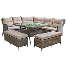 Buy LG Outdoor Marseille 9 Seater Modular Square Dining Table and Chairs Lounging Set, Natural Online at johnlewis.com
