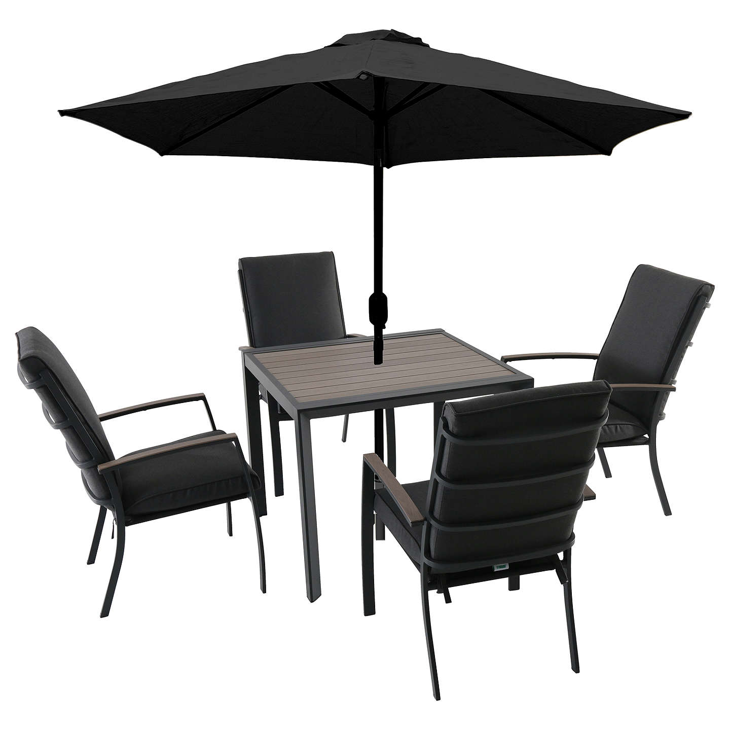 Lg outdoor milan 4 seater garden dining table chairs set - Lounger for the garden crossword ...