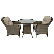 Buy LG Outdoor Marseille 2 Seater Bistro Table and Chairs Set, Natural Online at johnlewis.com