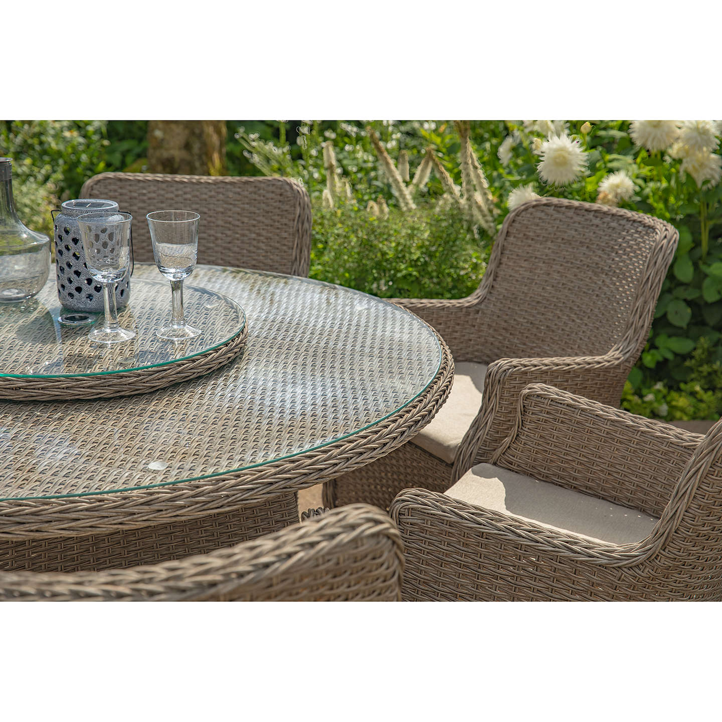 LG Outdoor Saigon 6 Seater Garden Dining Table / Chairs Set with ...