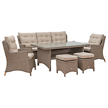 Buy LG Outdoor Saigon 7 Seater Lounge Table and Chairs Set, Natural Grey Online at johnlewis.com