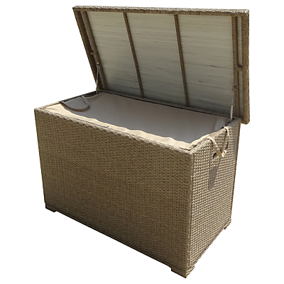 LG Outdoor Saigon Cushion Storage Box, Natural Grey