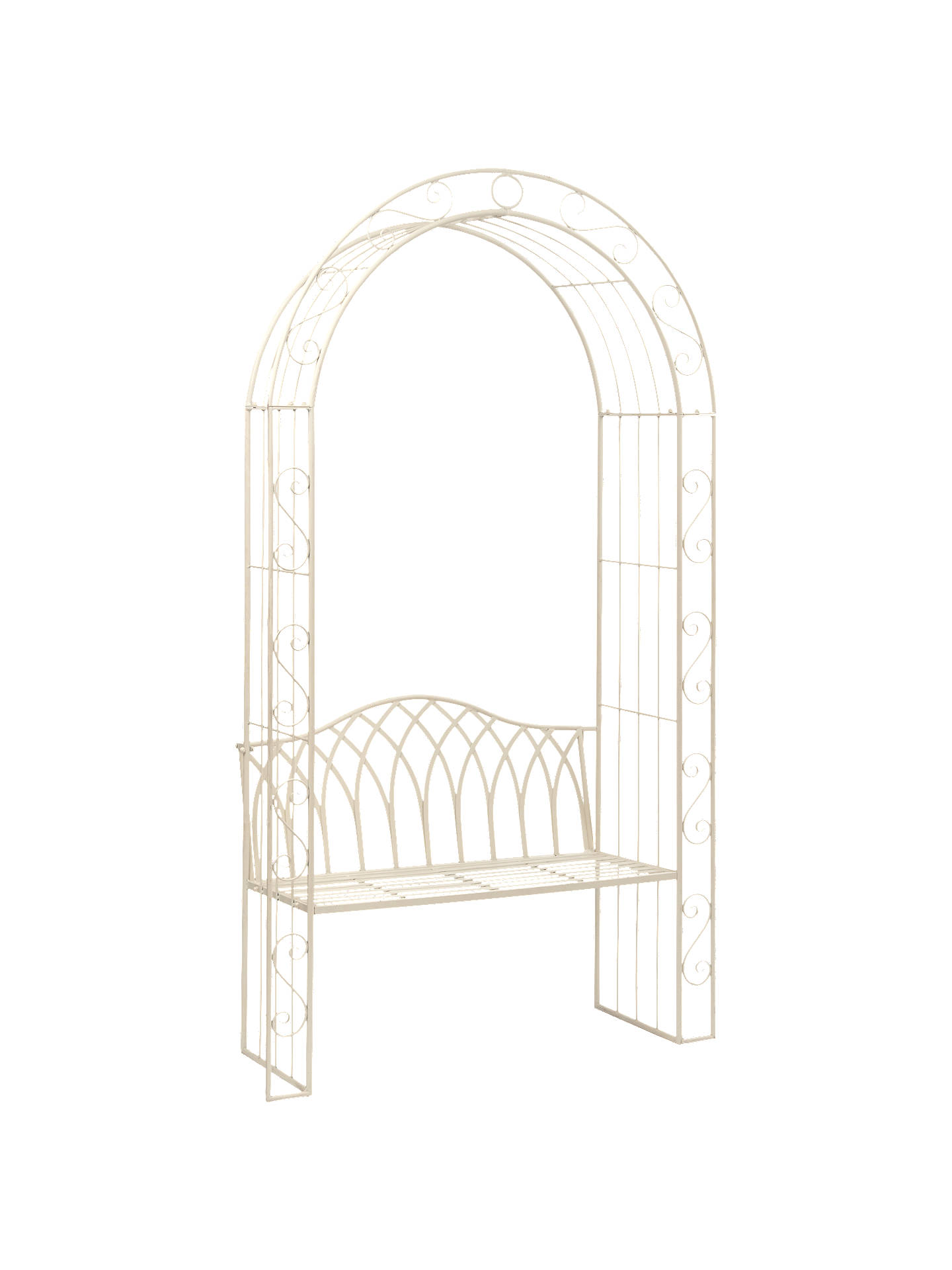 Buysuntime gloucester arch and bench white online at johnlewis com