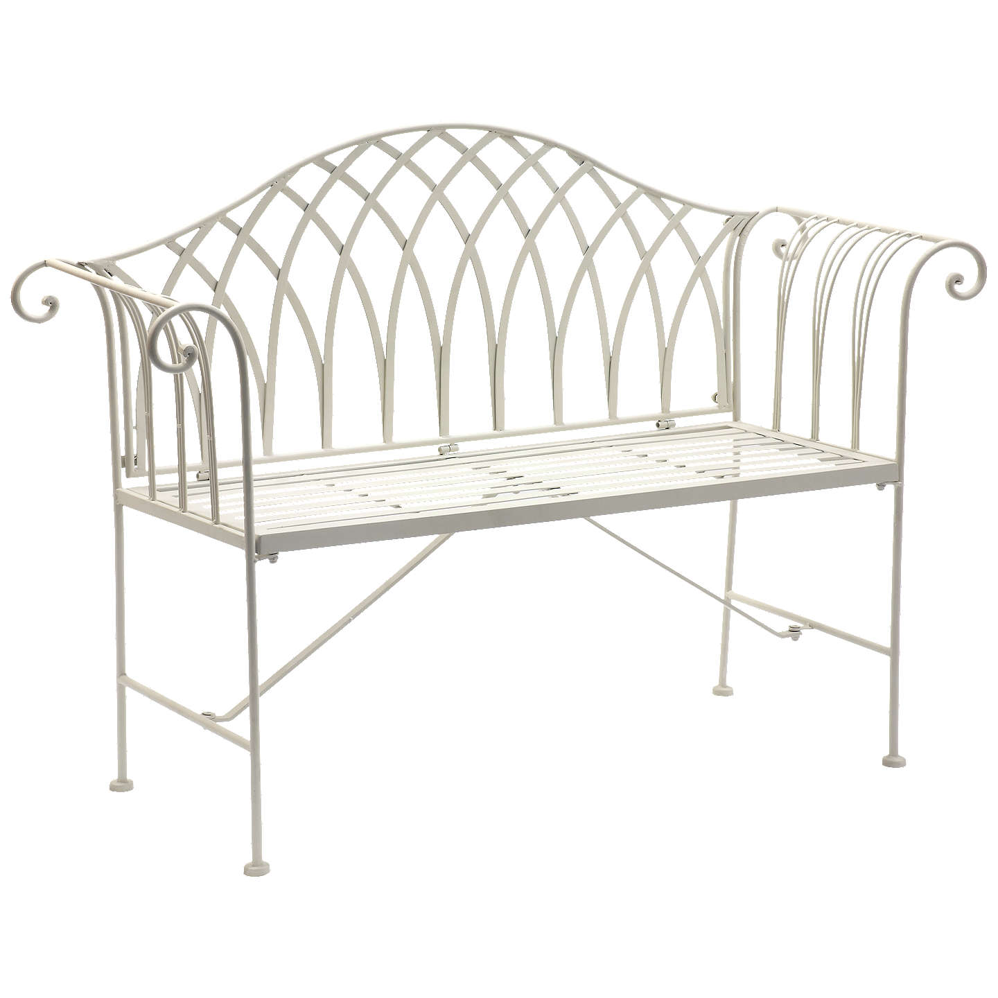 regency garden white rose iron productdisplay painted bench wrought uniacke