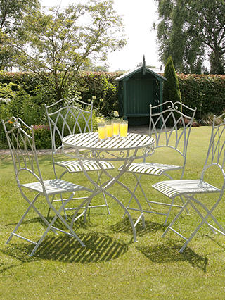 Buy Suntime Gloucester 4 Seater Garden Dining Table and Chairs Set, White Online at johnlewis.com