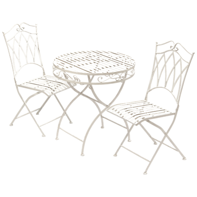 Suntime Gloucester 2 Seater Outdoor Bistro Dining Table and Chairs Set, White