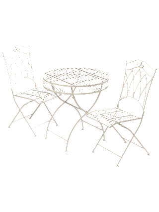 Buy Suntime Gloucester 2 Seater Garden Bistro Dining Table and Chairs Set, White Online at johnlewis.com