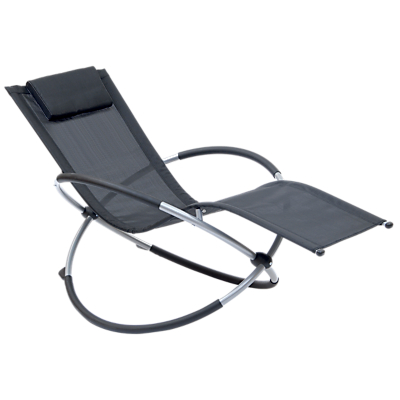 Suntime Orbit Relaxer Rocking Sunlounger, Black