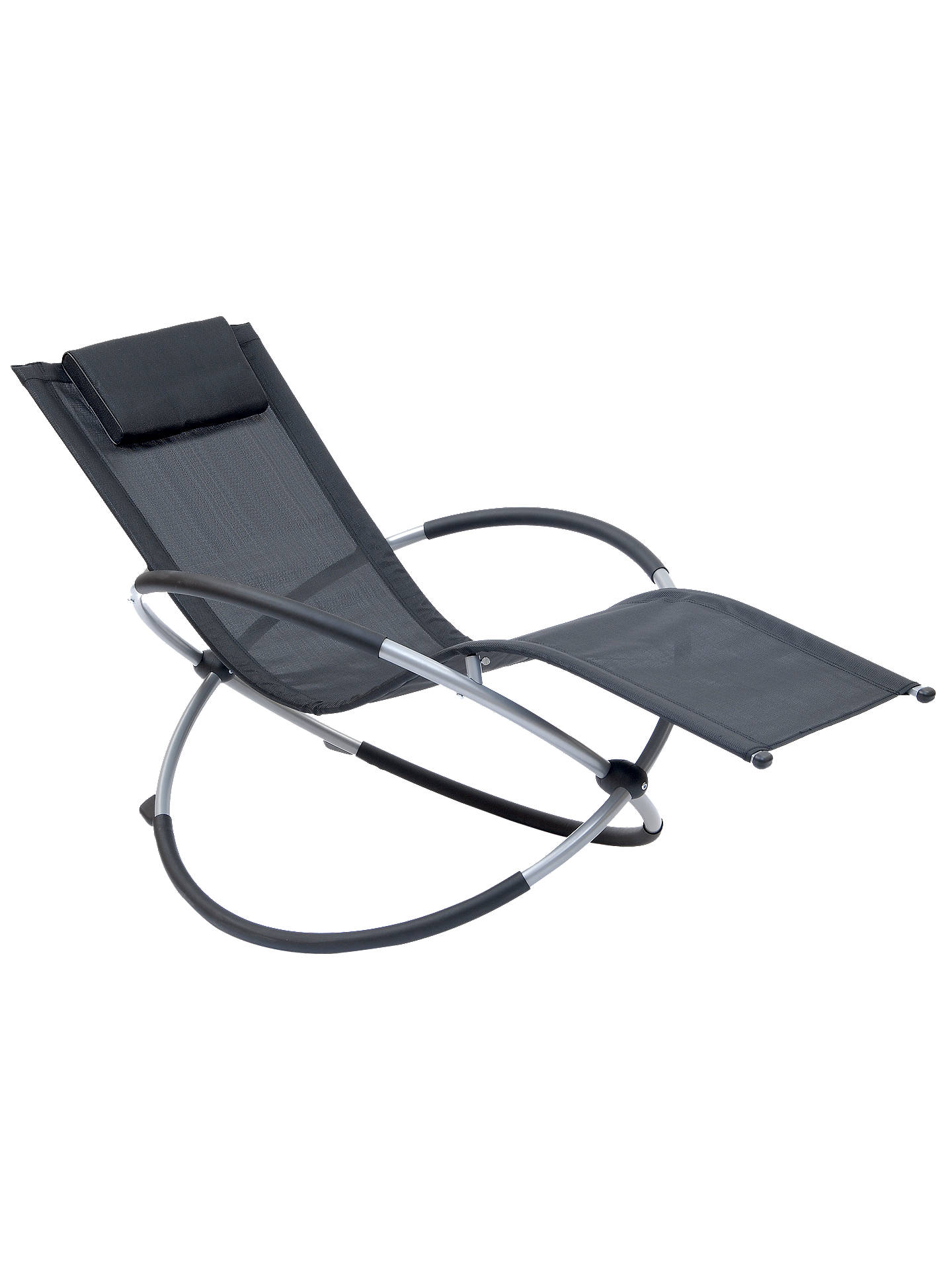 Buy Suntime Orbit Relaxer Rocking Sun Lounger, Black Online at johnlewis.com