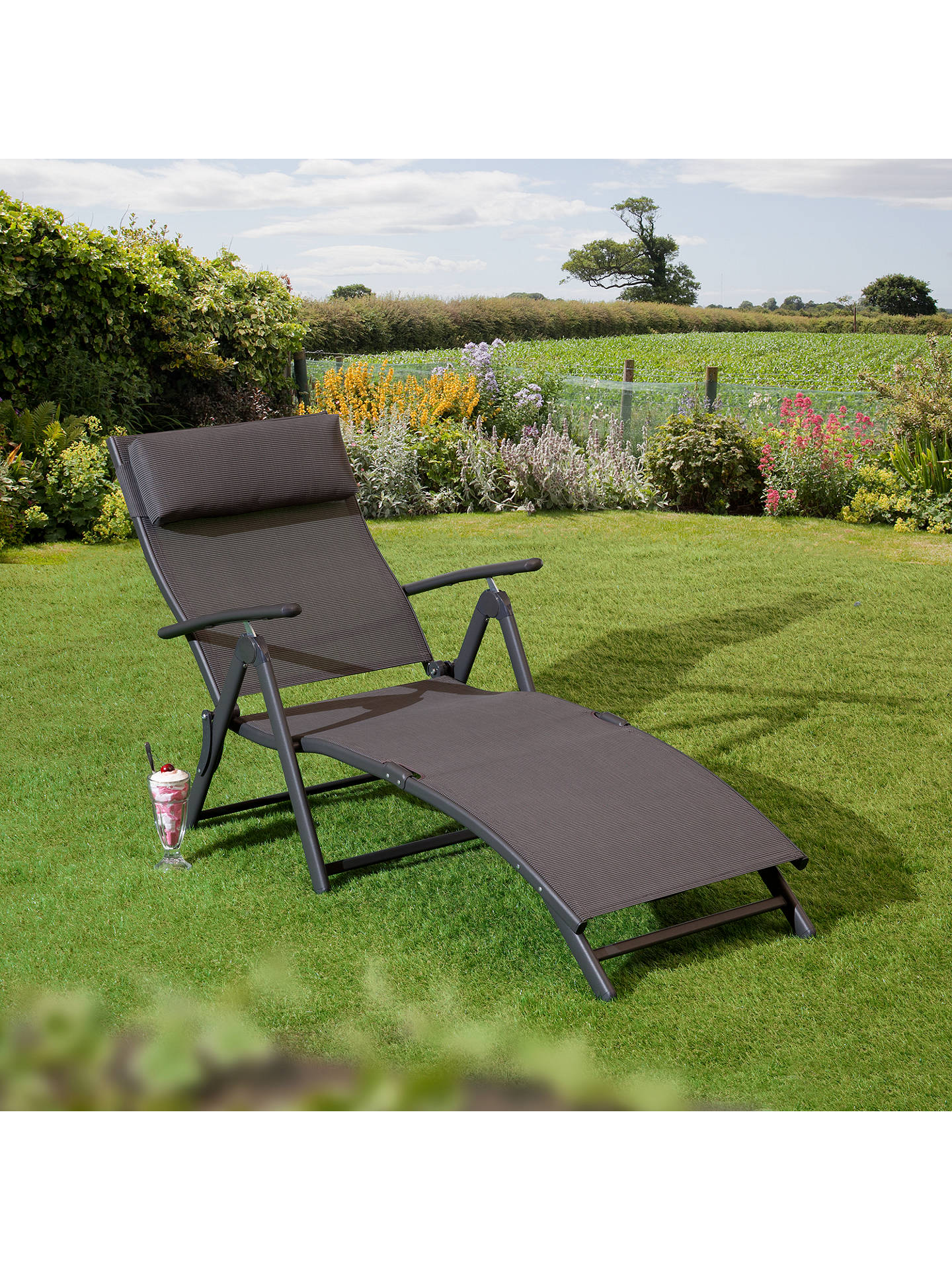 Buy Suntime Havana Sun Lounger, Charcoal Online at johnlewis.com