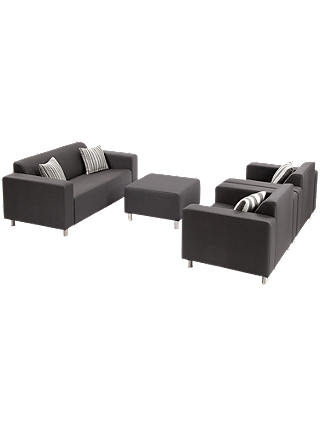 Buy Suntime Tom 4 Seater Garden Sofa and Lounging Set, Graphite Online at johnlewis.com