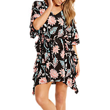 Buy Seafolly Bali Hai Ruffle Kaftan, Black/Multi Online at johnlewis.com