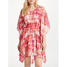 Buy John Lewis Iguazu Hot Square Kaftan, Coral/Multi Online at johnlewis.com