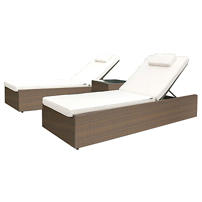 Westminster Valencia 2 Seater Outdoor Lounger Set, Sand
