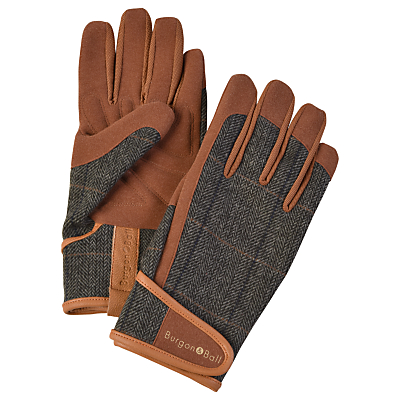Burgon & Ball Tweed Gardening Gloves, Large, Brown