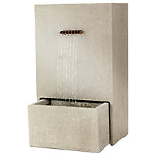 Buy Kaemingk Pipes Garden Water Feature, Light Grey Online at johnlewis.com