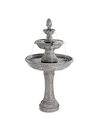 Buy Kaemingk 3 Tier Fountain Large Garden Water Feature, Grey Online at johnlewis.com