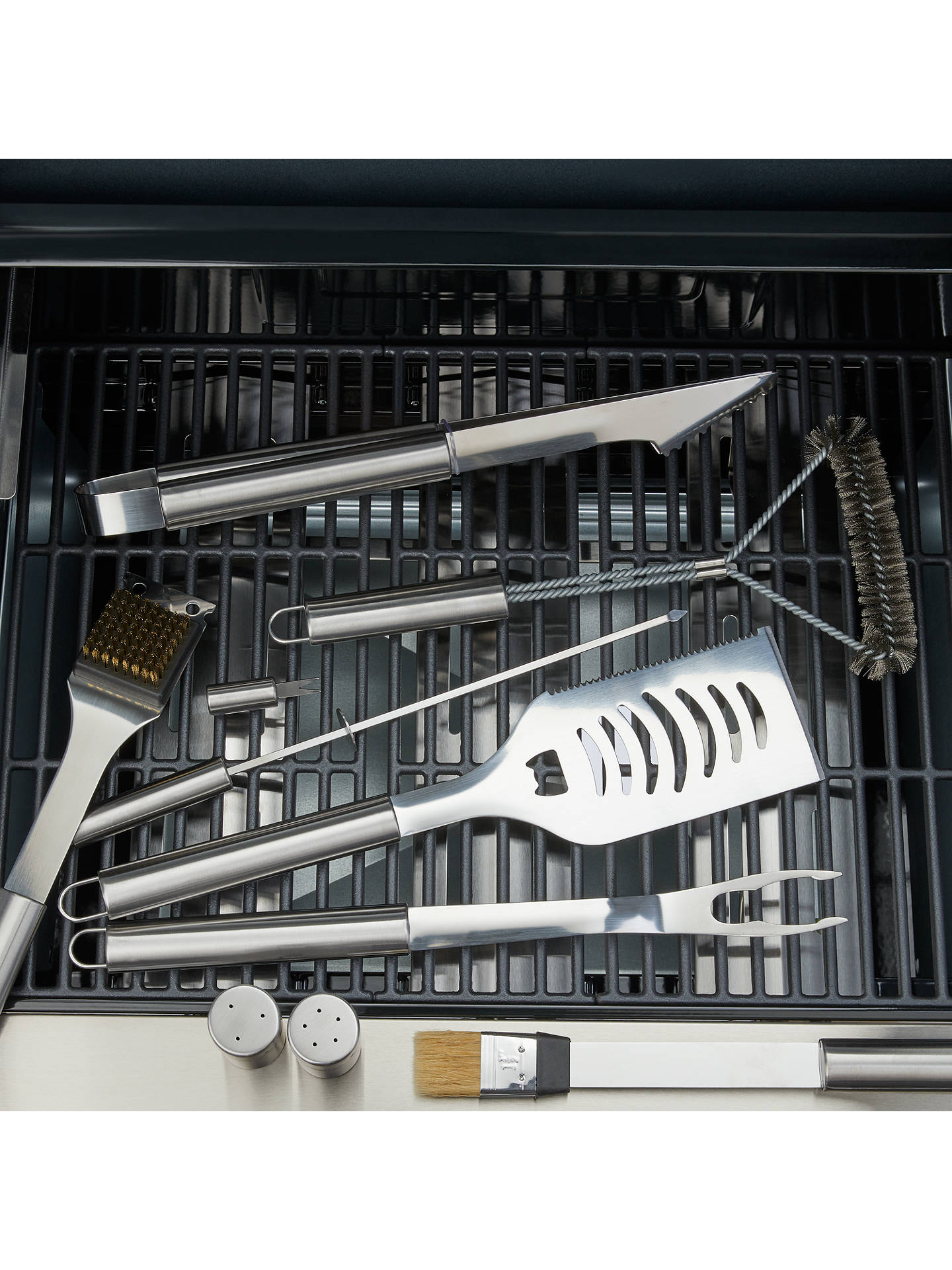 Buy John Lewis & Partners Stainless Steel BBQ Tool Set in Case, 24 Pieces Online at johnlewis.com