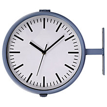 Buy Garden Trading Outdoor Waterloo Clock and Thermometer, Charcoal Online at johnlewis.com