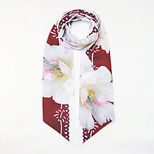 Buy Ted Baker Gracii Gardenia Skinny Scarf, White Mix Online at johnlewis.com