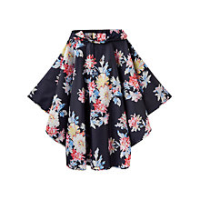 Buy Joules Whitstable Floral Rain Poncho, Navy/Multi Online at johnlewis.com