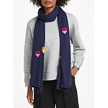 Buy Wyse London Rainbow Hearts Pure Cashmere Scarf Online at johnlewis.com