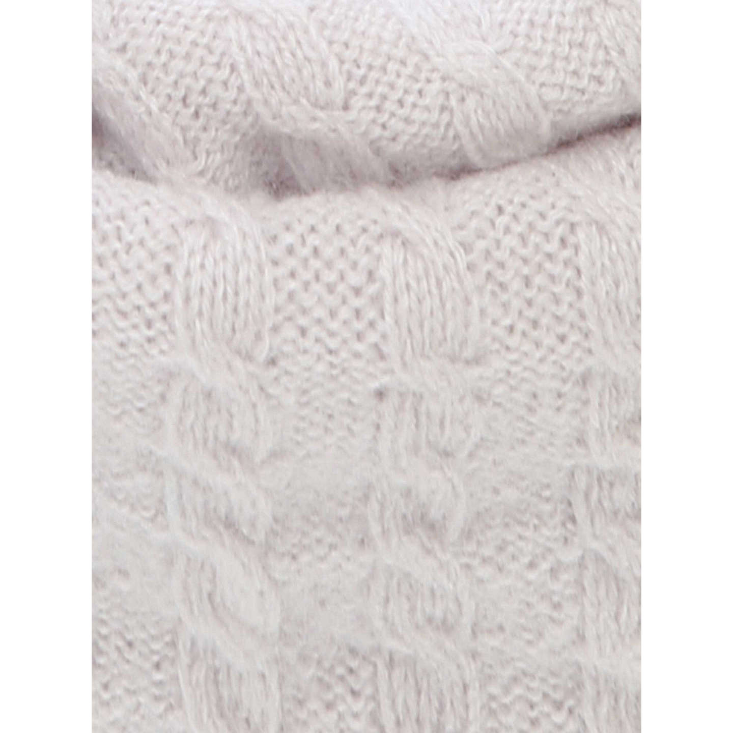 BuyBrora Cashmere Knitted Snood, Platinum Online at johnlewis.com