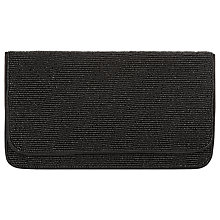 Buy Hobbs Windsor Beaded Clutch, Black Online at johnlewis.com