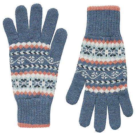 Buy Brora Cashmere Fair Isle Gloves, Multi | John Lewis