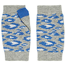 Buy Brora Cashmere Leopard Wristwarmer, Grey/Blue Online at johnlewis.com