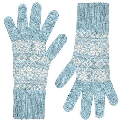 Product photo of Brora cashmere fair isle skinny gloves