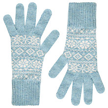 Buy Brora Cashmere Fair Isle Skinny Gloves Online at johnlewis.com