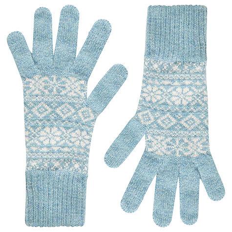 Buy Brora Cashmere Fair Isle Skinny Gloves | John Lewis
