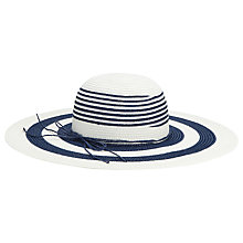 Buy Phase Eight Striped Sun Hat, Navy/Ivory Online at johnlewis.com