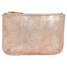 Buy Jigsaw Alba Medium Textured Leather Pouch Clutch Online at johnlewis.com