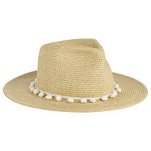 Buy Phase Eight Pom Pom Sun Hat, Natural Online at johnlewis.com