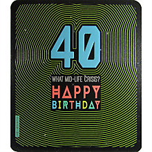 Buy Art File What Mid Life Crisis 40th Birthday Card Online at johnlewis.com