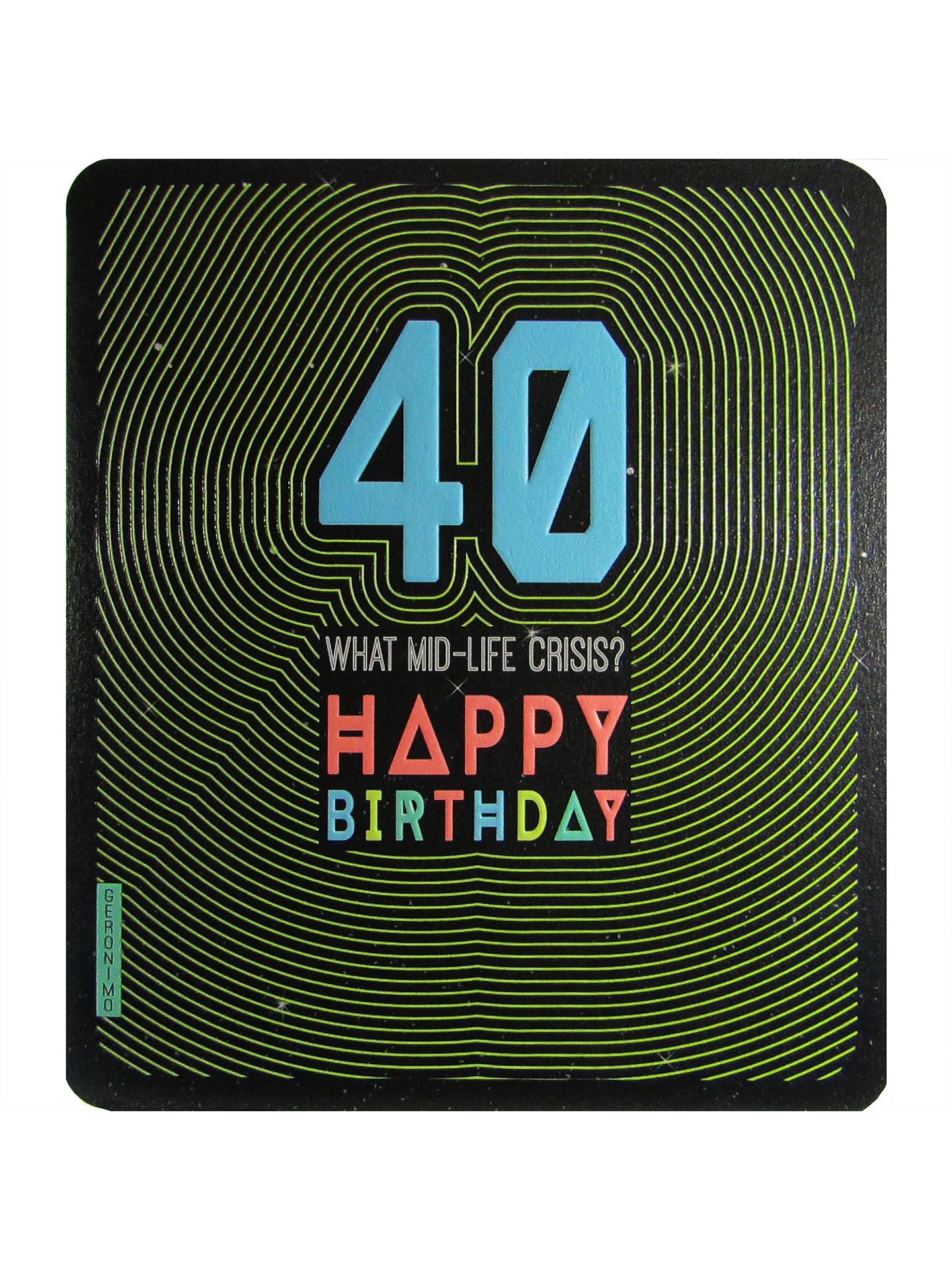 BuyArt File What Mid Life Crisis 40th Birthday Card Online At Johnlewis